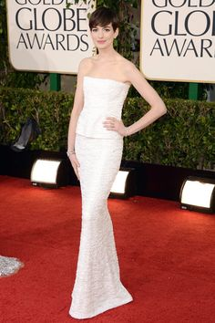 Anne Hathaway in Chanel Haute Couture - Wedding Dress Inspiration From Red Carpet 2013 (BridesMagazine.co.uk)