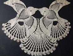 Two Kissing Swallows Vintage Crochet Doi - Diy Crafts Crochet Butterfly, Crochet Birds, Crochet Motifs, Crochet Doilies, Crochet Flowers, Crochet Tools, Diy Crochet, Crochet Projects, Crochet Baby