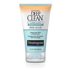 Neutrogena Deep Clean LongLast Shine Control Daily Face Exfoliating Scrub 42 Fl Oz >>> Want additional info? Click on the image. #SkinCareforPores