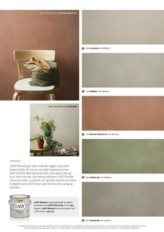 Lady Minerals - kalkmaling by Jotun Dekorativ AS - issuu Wall Paint Colors, Paint Colors For Home, Room Colors, House Colors, Colours, Colour Pallete, Colour Schemes, Color Of The Year, Interior Design Living Room