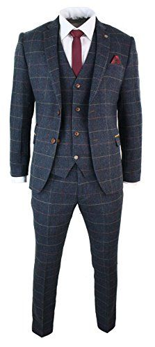 See our range of Mens Tweed Suits for sale. From modern slim-fit suits to classic Harris tweed three piece suit, delivered UK. Buy mens tweed suits, because some things never go out of fashion. Mens Tweed Suit, Tweed Suits, Groom Suit Tweed, Blue Tweed Suit, Tweed Waistcoat, Navy Blue Suit, Suit Vest, Black Suits, Costumes Slim