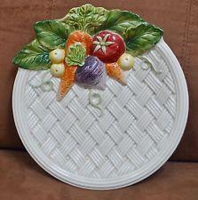 Fitz & Floyd Vegetable Garden Plate In Basket Weave Pattern    I own 2