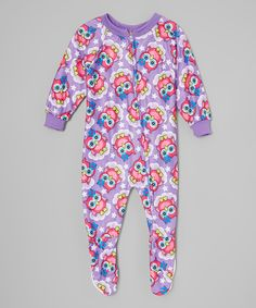 Look what I found on #zulily! 1000% Cute Purple & Pink Owl Footie - Toddler & Girls by 1000% Cute #zulilyfinds