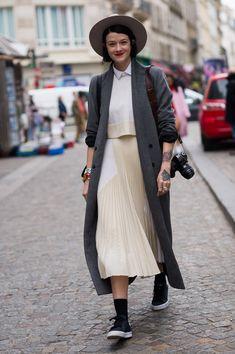 oh so freakin cool man. she rocks. #MarianneTheodorsen in Paris. #StyleDevil