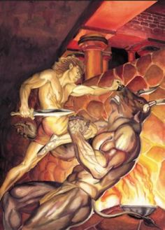 Theseus Slays the Minotaur
