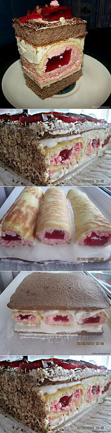 Совершенно бесподобный торт *Сакура* Baking Recipes, Cake Recipes, Dessert Recipes, Cake Cookies, Cupcake Cakes, Russian Cakes, Torte Cake, Gateaux Cake, Strawberry Cakes