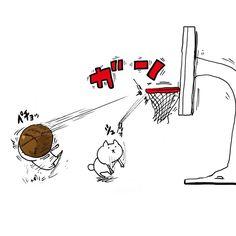 #art #illust #illustration #creator #original #drawing #unoki #kawaii  # #comic  #japan #cat # #猫 #アート #ペン #らくがき #イラスト #絵 #うのき #まるとしっぽ #バスケ by u_n_o_k_i