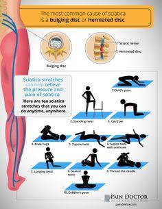 infographic - sciatica stretches