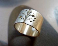 Clave de FA banda ancha del anillo plata regalo para el por Mirma