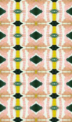 Image of 125-3 peach green wallpaper
