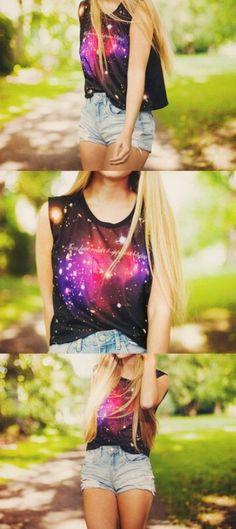 ❤ t-shirt #galaxy #fashion #galaxy_fashion