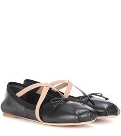Miu Miu - Leather ballerinas