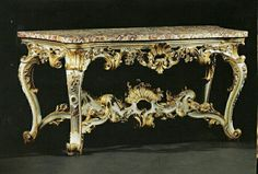 Entryway Decor, Entryway Tables, Antique Console Table, Rococo Style, Italian Furniture, Acanthus, Love Art, Things To Buy, Filigree