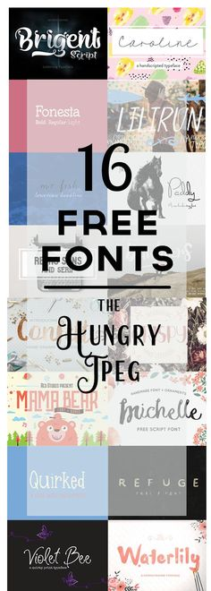 These free fonts from The Hungry Jpeg include a Commercial license! wow!