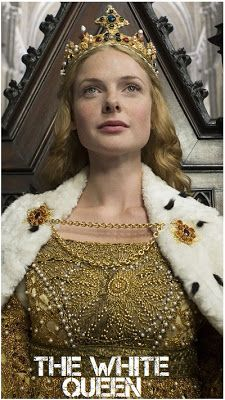 Rebecca Ferguson White Queen.  The White Queen: Elizabeth (NAMESAKE). Mnemonic to remember the Royal Houses of England and Great Britain:  Never A Plan Like Yours To Study Oral History So Wisely = Norman, Angevin, Plantagenet, Lancaster, YORK, Tudor, Stuart, Orange, Hanover, Saxe-Coburg, Windsor.