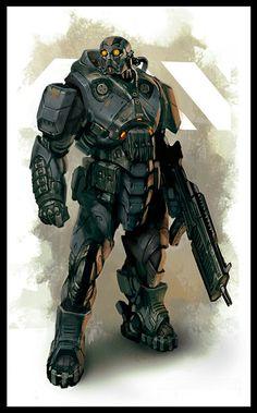 Exo Armor very dark
