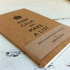 Keep Calm Letterpress Printed Moleskine Cahier £4.95