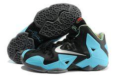 huge discount d6009 d57a8 Nike Lebron XI Black Blue Basketball Shoes Nike Basketball Shoes, Kyrie  Basketball, Sports Shoes