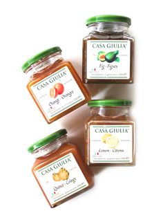 CASA GIULIA FRUIT PRESERVES - Casa Giulia real fruit jams and marmalades are made in the Italian region of Abruzzo, a region rich in agriculture, using Italian fruit. Not only for use with baked goods, Casa Guiulia's preserves are also delicious paired with savoury flavours. Try the Gig Jam with thin slices thinly sliced Prosciutto di Parma and goat cheese or the Quince jam as a condiment to Porcetta. http://zarasdeli.com/shop/italian-fruit-preserves/