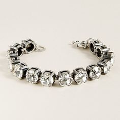 cheaper than a diamond tennis bracelet, but just as fun with the Swarovski crystals $95