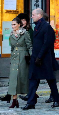 Crown Princess Victoria walking with William...