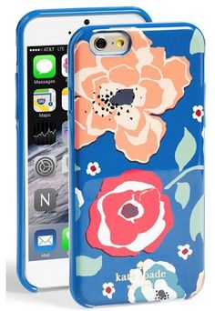 Kate Spade April Floral Print iPhone 6 Case ($40) | #smartphone #gadgets #fashion #phonecase #gifts