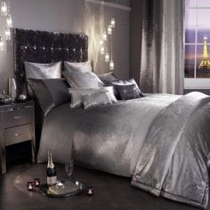 Ombre Slate Bedding Range BY Kylie Minogue Duvet Pillowcases Throw CUS | eBay