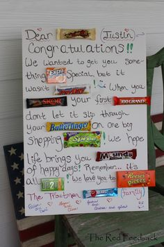 Retirement Candy Bar Card   Pinterest cakes & things made ...