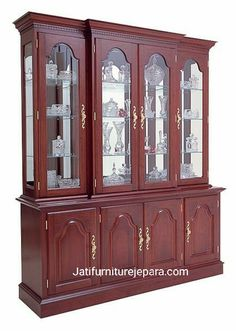 Cherry Breakfront China and Buffet by Colonial Furniture Living Room Furniture Arrangement, Bedroom Furniture Design, Home Decor Furniture, Dining Furniture, Glass Kitchen Cabinets, Cherry Furniture, Colonial Furniture, Cupboard Design, Hardwood Furniture