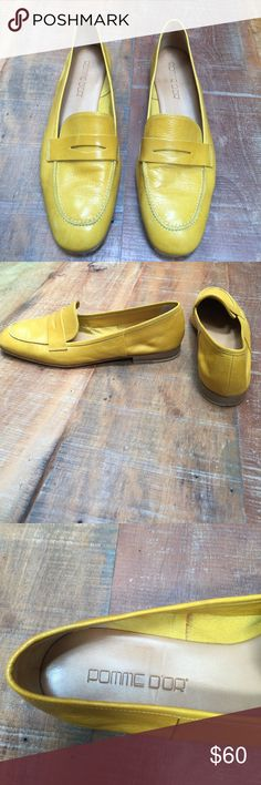 Pomme D'or leather mustard loafers Pomme D'or leather mustard loafers Pomme D'or Shoes Flats & Loafers
