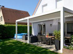 Inspirasjon til uteplass, terrasse, veranda og balkong | uteDESIGN Photo Store, Work Surface, Garden Projects, Garden Ideas, Modern Kitchen Design, Walkway, Shades, Outdoor Decor, Bourges