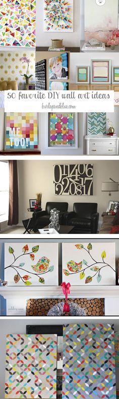 DIY Wall Art Ideas-Favorite Wall Art Crafts and Tutorials
