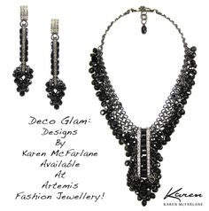 Deco Glam: Designs by Karen McFarlane available at Artemis Fashion Jewellery!
