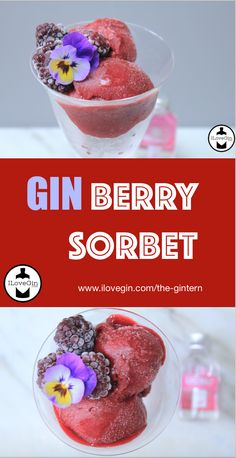 I'll take two ☀️😎 Gin Recipes, Ice Ice Baby, Sorbet, Berries, Breakfast, Food, Morning Coffee, Berry Fruits, Bury