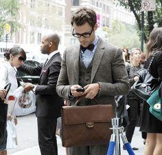 Brad Goreski, I love your Chanel briefcase.