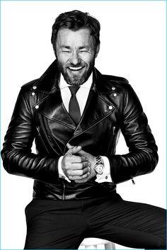 Eric Ray Davidson photographs Joel Edgerton for the November 2016 issue of GQ Australia. Gents Fashion, Look Fashion, Male Fashion, Fashion 2020, Fashion Trends, Leather Fashion, Leather Men, Biker Leather, Gq Australia
