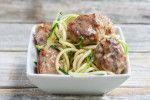 Low Carb Paleo Meatballs with Zucchini Noodles and Gravy! | Gluten Free | Dairy Free | Egg Free | Teabiscuit.org