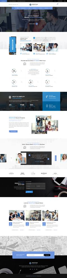 Negotium - Business, Finance, Consultation Multipurpose PSD Template
