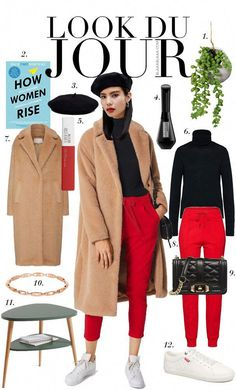 Fall Casual Outfit 2018 Source by womenontrend turtleneck outfit casual Turtleneck Outfit Casual, Camel Pants Outfit, Beret Outfit, Jogger Pants Outfit, Red Pants, Black Joggers Outfit, Casual Outfits 2018, Paris Outfits, Outfits With Hats