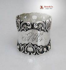 Victorian Sterling Silver Napkin Ring Frank Whiting 1880