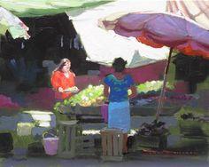Guanajuato Centro oil painting Tom Dickson, San Miguel de Allende