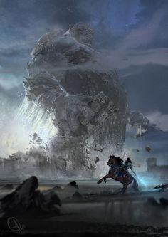 Colossus, Alejandro Olmedo on ArtStation at https://www.artstation.com/artwork/Zdm5m