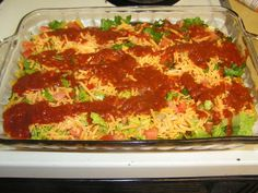 LOW CARB TACO BAKE-- Very good! added more cheese, tomato sauce and taco seasoning. Wonder if it would be just as good mixed with crust. No Carb Recipes, Diabetic Recipes, Mexican Food Recipes, Cooking Recipes, Skinny Recipes, High Protein Low Carb, Low Carb Diet, Enchiladas, Low Carb Tacos