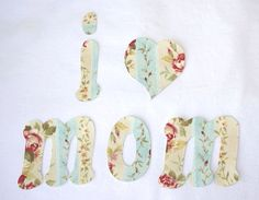 Whimsy Couture Sewing Blog: Free Applique Templates - I Heart Mom