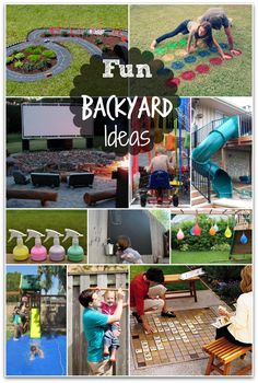 Fun Backyard Ideas!  I want to try ALL of these!!
