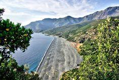 Plage de Nonza en Corse.