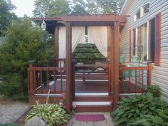 Back deck and porch.
