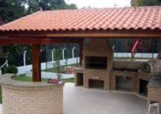 Construção de telhado colonial, cobertura com telhas romanas Gazebo, Pergola, Barbacoa Jardin, Covered Outdoor Kitchens, Porch Kits, Indian Home Design, Outdoor Pavilion, Front Porch Design, Building A Porch