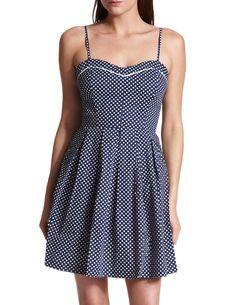Polka Dot A-Line Dress  #r29summerstyle