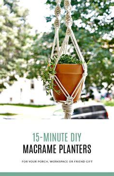 DIY Macrame Plant Hangers In 15-Minutes